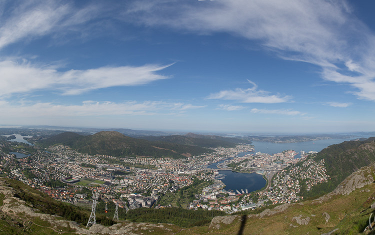 Panorama Bergen Norwegen